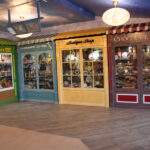Memory Lane shop fronts at La Fontana Nursing Home, Martock