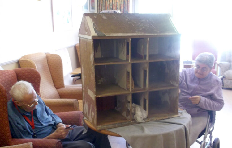 Clarence Park care home residents renovating their dolls house
