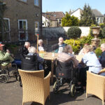 Clarence Park residents keeping busy, playing games in the garden