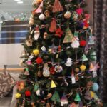 Casa di Lusso care home, Bridgwater, finished Christmas Tree