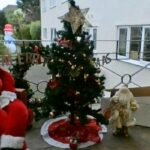 Clarence Park care home's finished tree and Father Christmas scene