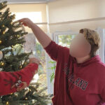 The Limes Unit residents decorating the tree