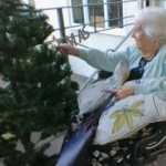 Clarence Park resident decorating the tree